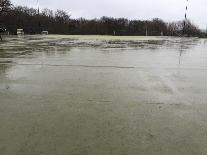 Synthetic playing surfaces need attention emerging from winter